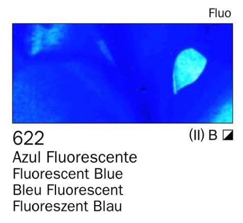 Venta pintura online: Acrilico Azul fluorescente nº622