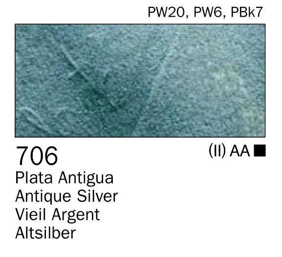 Venta pintura online: Acrilico Plata antigua nº706