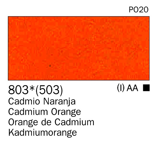 Venta pintura online: Acrilico Naranja cadmio nº503