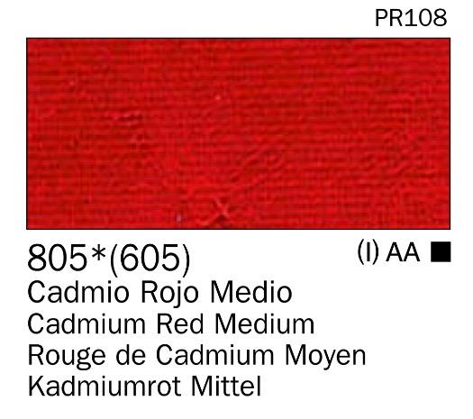 Venta pintura online: Acrilico Rojo cadmio medio nº805