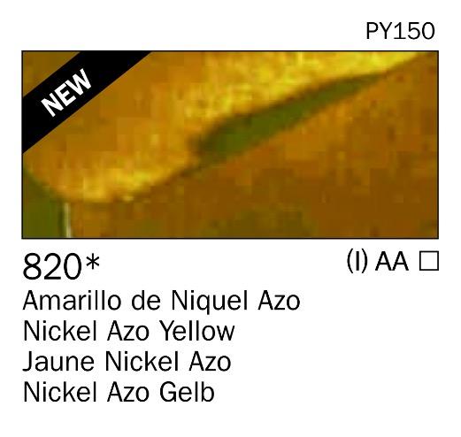 Venta pintura online: Acrilico Amarillo de niquel azo nº820