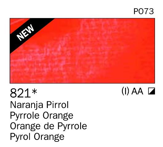 Venta pintura online: Acrilico Naranja pirrol nº821