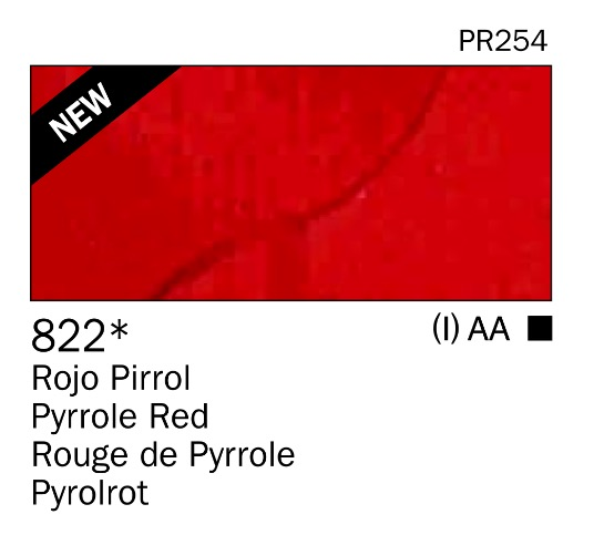 Venta pintura online: Acrilico Rojo pirrol nº822