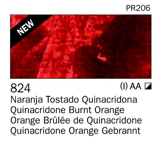 Venta pintura online: Acrilico Naranja tostado quinacridona nº824