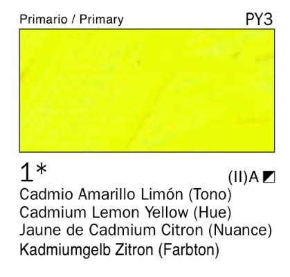 Venta pintura online: Acrílico Amarillo cadmio limón (tono) nº1