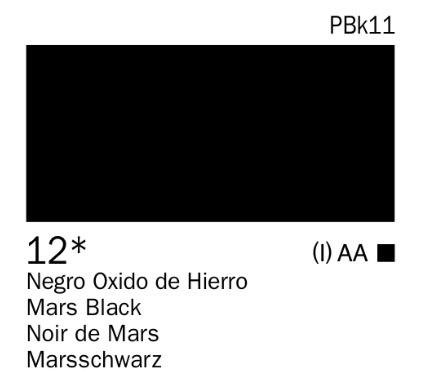 Acrílico negro óxido de hierro nº12