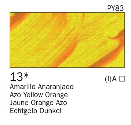 Venta pintura online: Acrílico Amarillo anaranjado nº13