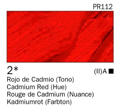 Venta pintura online: Acrílico Rojo de cadmio (tono) nº2