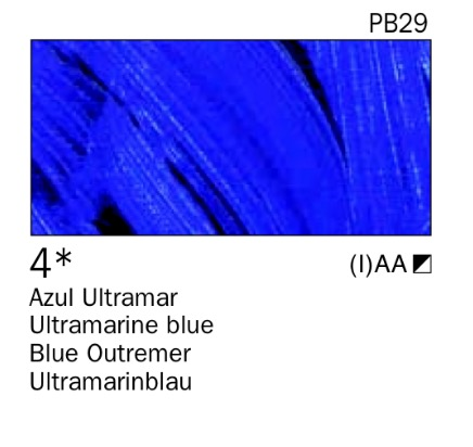 Venta pintura online: Acrílico Azul ultramar nº4