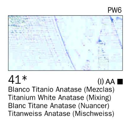 Venta pintura online: Acrílico Blanco Titanio anatase (mezclas) nº41