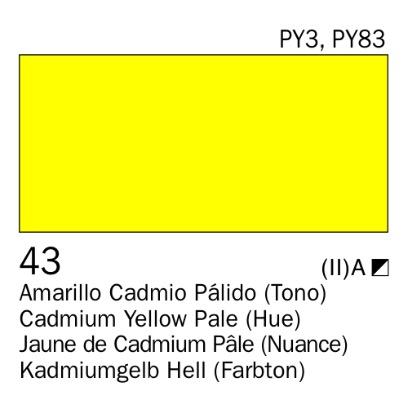 Venta pintura online: Acrílico Amarillo cadmio pálido (tono) nº43
