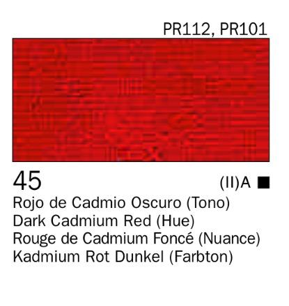Venta pintura online: Acrílico Rojo de cadmio oscuro (tono) nº45
