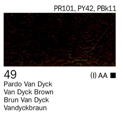 Acrílico Pardo van dyck nº49