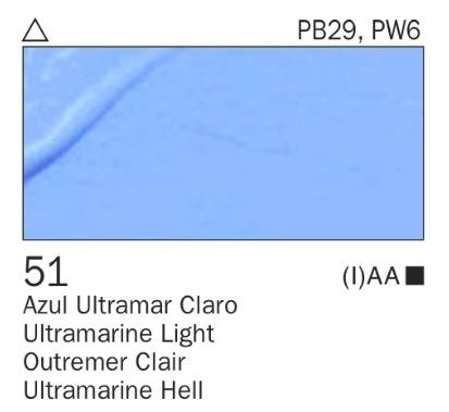 Acrílico Azul ultramar claro nº51