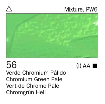 Venta pintura online: Acrílico Verde chromium palido nº56
