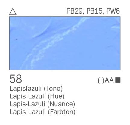 Venta pintura online: Acrílico Lapislazuli (tono) nº58