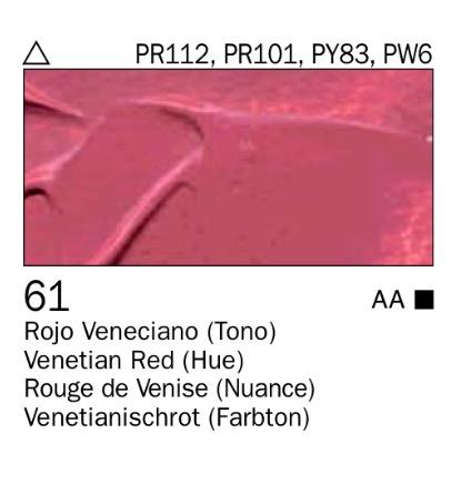 Venta pintura online: Acrílico Rojo Veneciano (tono) nº61