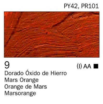 Venta pintura online: Acrílico Dorado óxido de hierro nº9