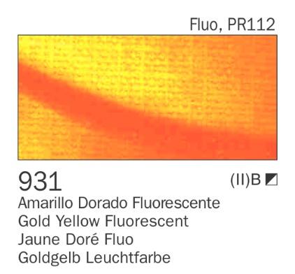 Venta pintura online: Acrílico amarillo dorado Fluo nº931