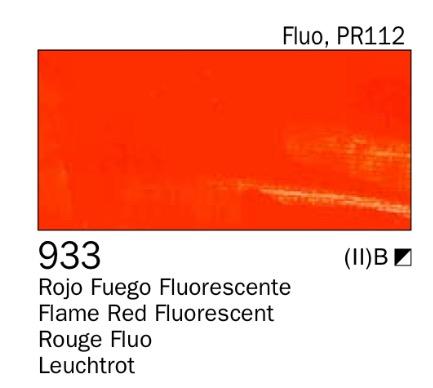 Venta pintura online: Acrílico Rojo fuego fluo nº933